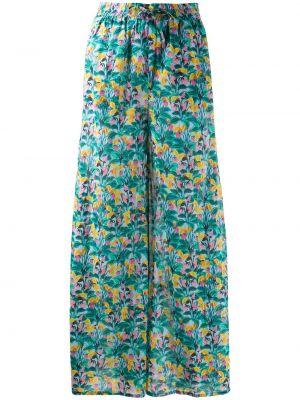 Свободные брюки зеленый брюки-хулиганы Dvf Diane Von Furstenberg