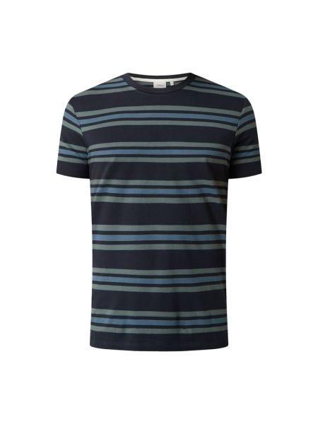 T-shirt bawełniana - niebieska S.oliver Red Label