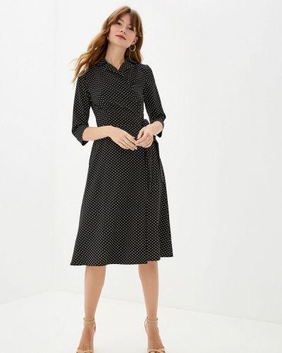 Платье прямое черное Doroteya