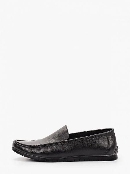 Черные кожаные мокасины Berten