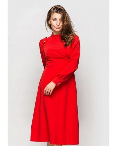 Прямое красное платье А-силуэта Oks By Oksana Demchenko