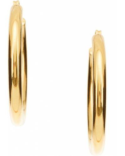 Серьги-кольца серебряные золотые Copine  Jewelry