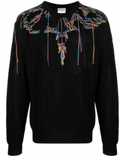 Czarna bluza długa z długimi rękawami bawełniana Marcelo Burlon County Of Milan
