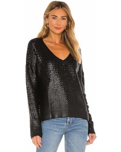 Акриловый черный свитер с V-образным вырезом Bobi