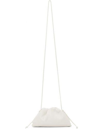 С ремешком белый клатч из натуральной кожи Bottega Veneta