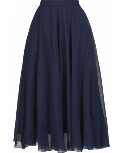Синяя юбка Rochas