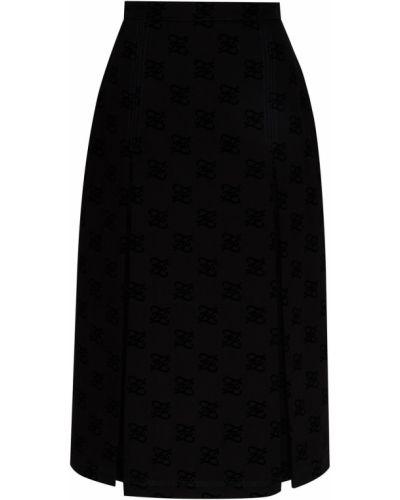 Юбка миди с карманами в складку Fendi