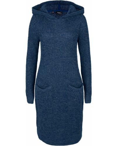 Вязаное платье - голубое Bonprix
