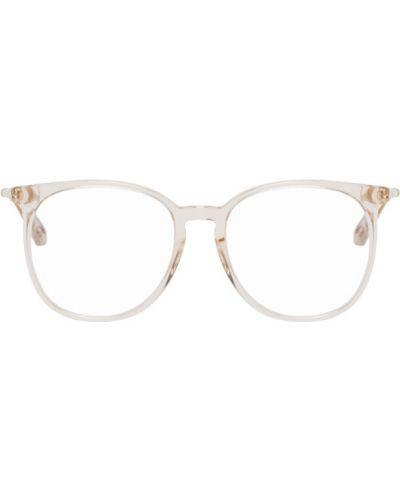 Розовые очки для зрения круглые прозрачные из нубука Chloé
