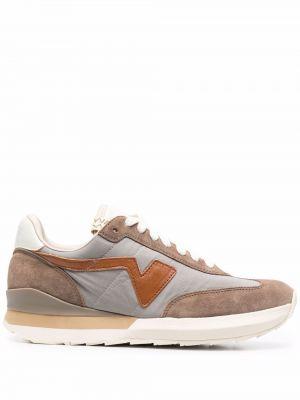 Beżowe buty sportowe skorzane Visvim