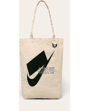Torebka bawełniana z niskim stanem z printem Nike Sportswear
