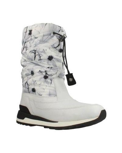 Biały śniegowce Geox