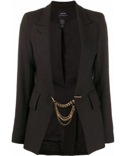 Пиджак черный шерстяной Smythe