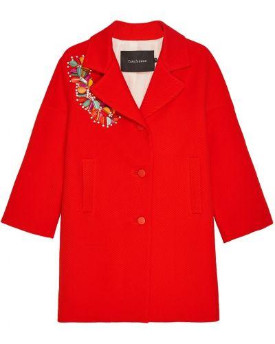 Пальто оверсайз с вышивкой Tara Jarmon
