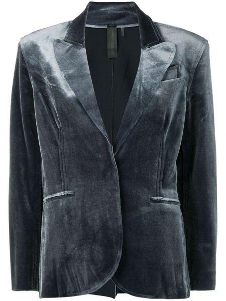 Куртка бархатная на пуговицах Norma Kamali
