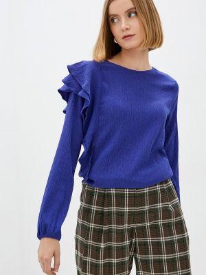 Синяя блузка с рюшами Mexx