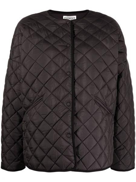 Черная стеганая куртка оверсайз Toteme