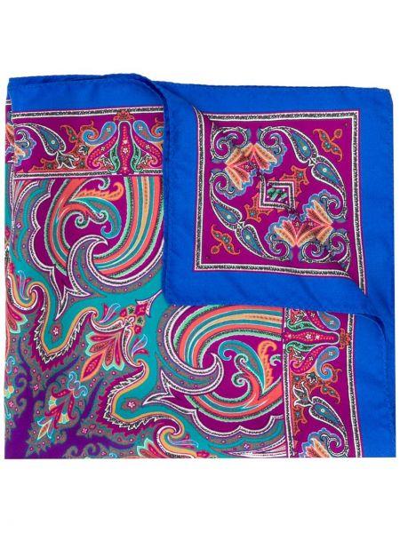 Облегченная шелковый фиолетовый платок Etro
