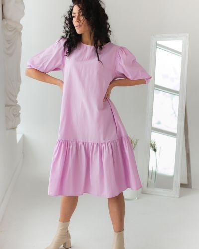 Розовое платье трапеция Clew