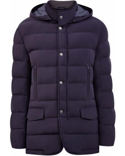 Утепленная синяя куртка на молнии Cudgi