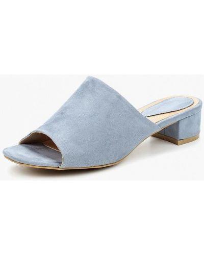 Голубые замшевые сабо Sweet Shoes