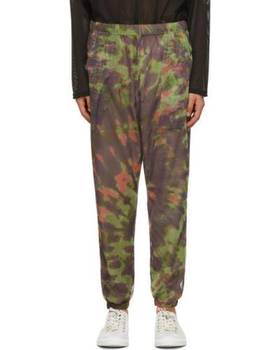 Зеленые брюки сетчатые с манжетами South2 West8
