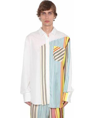 Biała klasyczna koszula bawełniana w paski Botter
