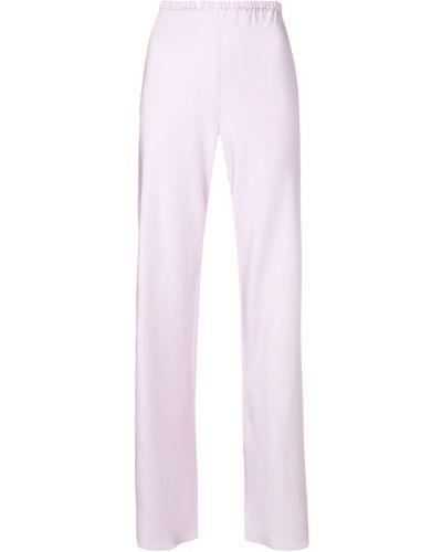 Фиолетовые расклешенные брюки с поясом Peter Cohen