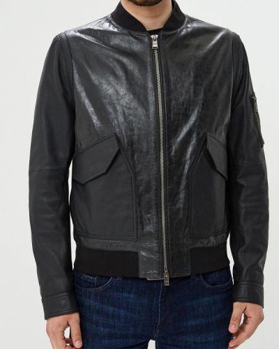 Кожаная куртка черная осенняя Boss Hugo Boss