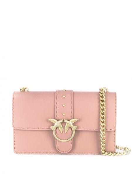 Кожаная сумка на плечо с клапаном Pinko