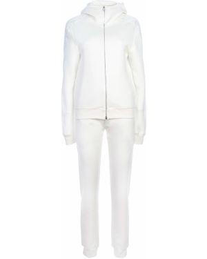 Белый костюмный домашний костюм с поясом на молнии Ermanno Scervino