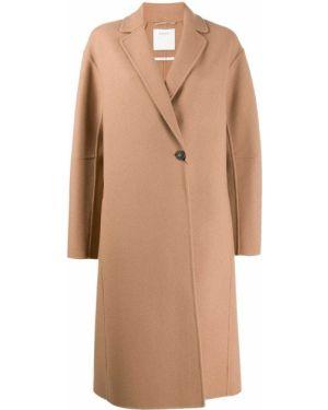 Однобортное длинное пальто с капюшоном на пуговицах Sportmax