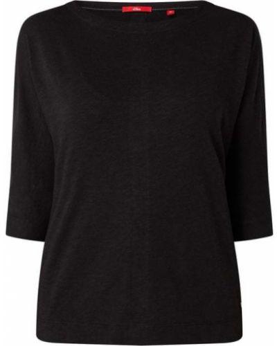 Bluzka z wiskozy - czarna S.oliver Red Label