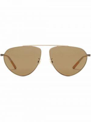 Złote okulary - pomarańczowe Gucci Eyewear