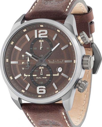 Часы водонепроницаемые с кожаным ремешком алюминиевые Timberland