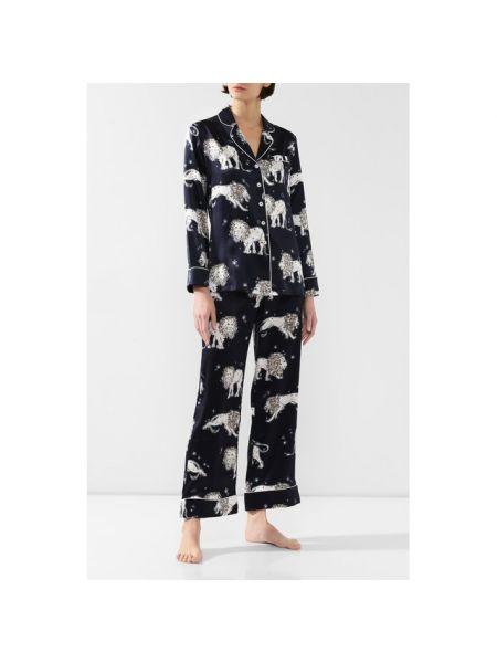 Шелковая пижама - синяя Olivia Von Halle