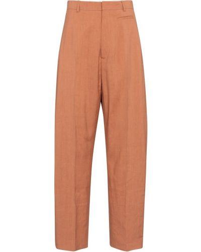 Pomarańczowe spodnie wełniane Jacquemus