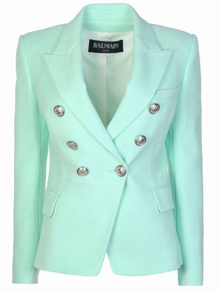 Пиджак на пуговицах мятный Balmain