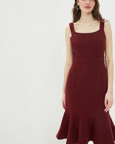 Платье бордовый прямое Mint&berry