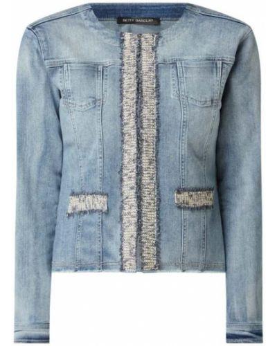 Niebieska kurtka jeansowa bawełniana z długimi rękawami Betty Barclay