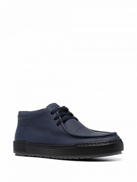 Ботильоны на шнуровке - синие Zilli