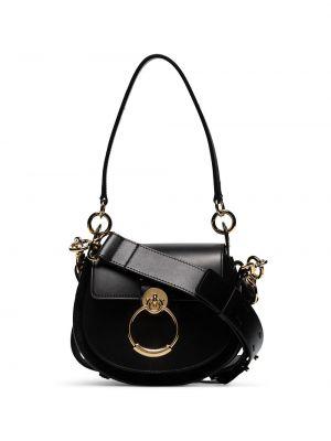 Золотистая хлопковая черная маленькая сумка Chloé