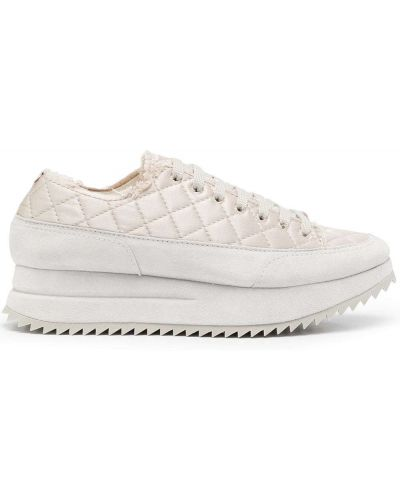 Белые кружевные кроссовки Pedro García