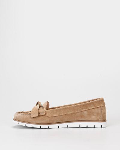 Бежевые замшевые мокасины Filipe Shoes