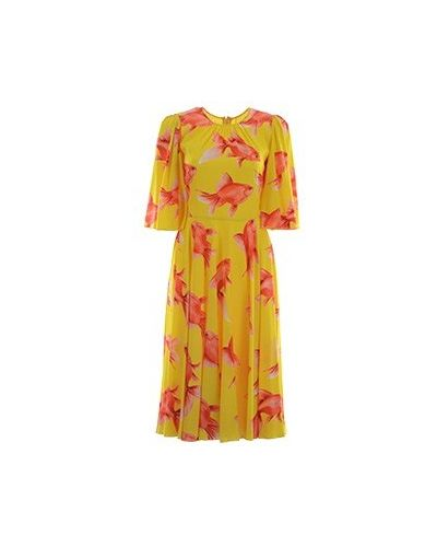 Платье - желтое Dolce&gabbana