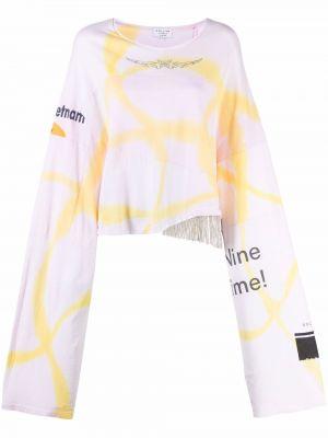 T-shirt z printem - różowa Collina Strada