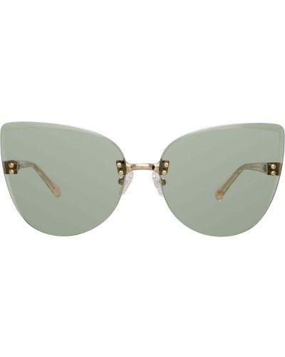 Солнцезащитные очки кошачий глаз зеленый N21
