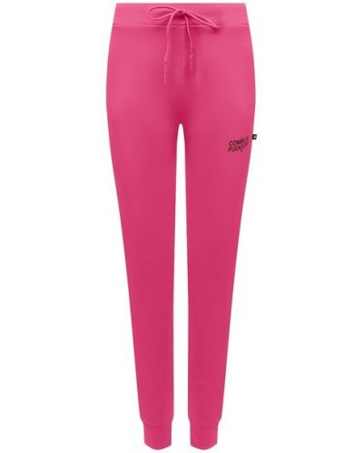 Хлопковые розовые брюки с поясом Comme Des Fuckdown