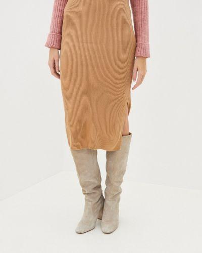 Бежевая юбка узкого кроя Defacto