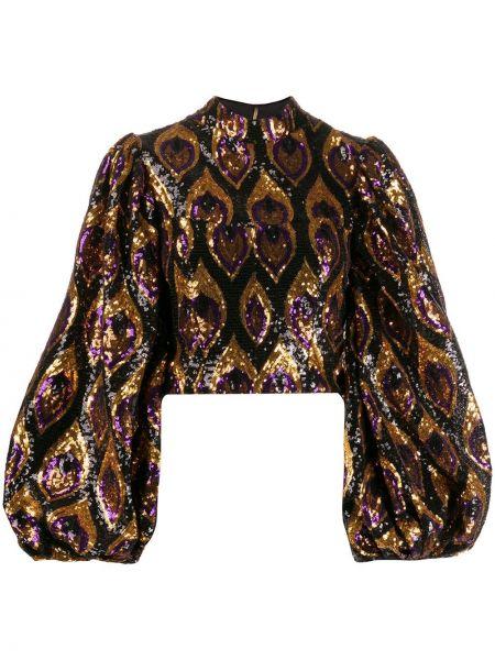 Блузка с длинным рукавом с пайетками приталенная Giuseppe Di Morabito